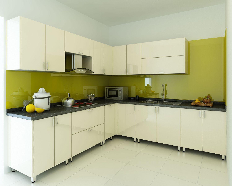 Kính màu ốp bếp tại Hải Phòng