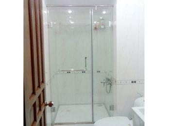phòng tắm kính mở quay 180 độ