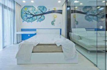 Vách kính ngăn phòng ngủ Hải Phòng