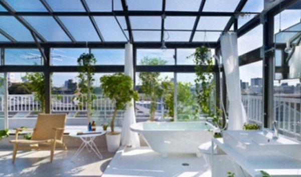 Lắp đặt kính mái sân phơi tại Hải Phòng